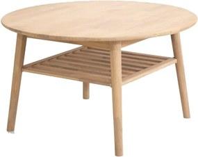 Odkladací stolík z dubového dreva Canett Martell, ⌀ 90 cm
