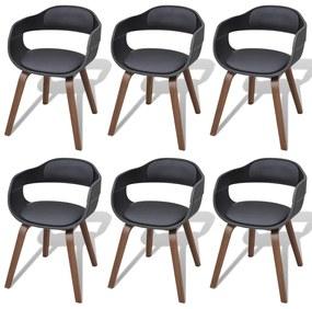 be19a8f717feb ... Jedálenská stolička z ohýbaného dreva s poťahom z umelej kože ...