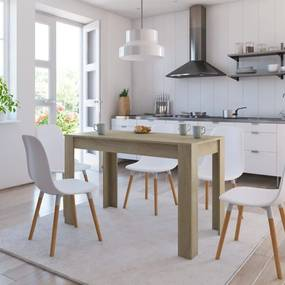 vidaXL Jedálenský stôl dub sonoma 120x60x76 cm drevotrieska