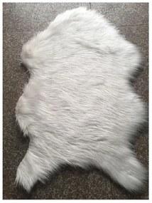 TEMPO KONDELA Ebony Typ 1 umelá kožušina 60x90 cm biela