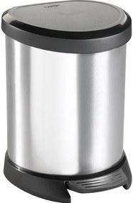 CURVER DECOBIN Pedal 5L Odpadkový kôš 27,7 x 24,6 x 21 cm strieborný 02160-599