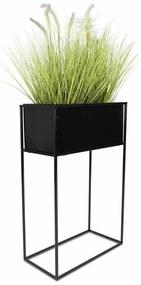 DekorStyle Stojící květináč černý 70 cm