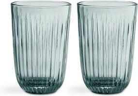 Sada 2 zelených sklenených pohárov Kähler Design Hammershoi, 330 ml