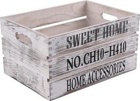 Orion Drevená debnička Sweet Home, 31 x 21 cm