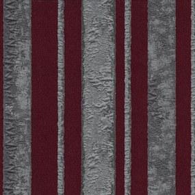 Vliesové tapety, pruhy strieborno-červené, Studio Line 242430, P+S International, rozmer 10,05 m x 0,53 m