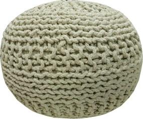 KUDOS Textiles Pvt. Ltd. MEGA AKCE: Sedací vak TEA POUF 21 béžový - 40x40x35 cm