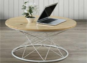 Najlacnejsinabytok SELENA kávový stolík, biela/borovica