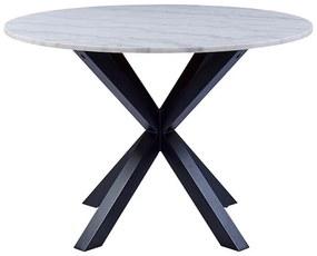 Heaven jedálenský stôl biely melír / čierna