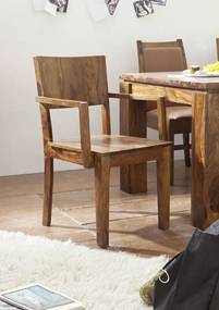 Bighome - DAKOTA Kreslo drevené, palisander