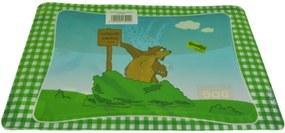 Podložky pod tanier - zelené so zvieratkami