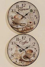 Boltze Nástěnné hodiny Káva