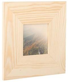 ČistéDrevo Drevený fotorámik na stenu 23 x 23 cm