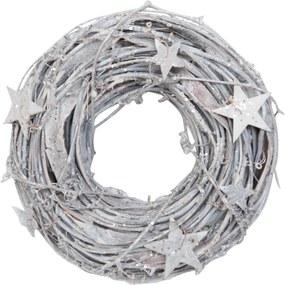 Dekoratívny venček biely Ø 26 cm