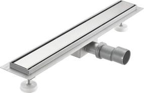 [neu.haus]® Nerezový podlahový žľab – moderný odtok do sprchy - oceľový kryt - (100x7cm)