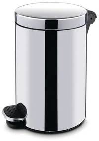 Kovové odpadkové koše Basic, objem 20 l, Kapacita: 20 L, Materiál: lesklá nehrdzavejúca oceľ, Farba: Sivá/striebro, Typ: nášľapný, Výška: 450 mm, Hmot