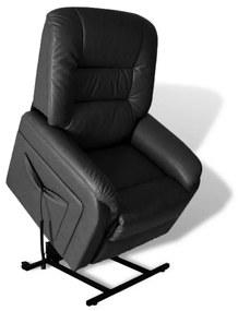 vidaXL Sklápacie TV kreslo, čierne, umelá koža