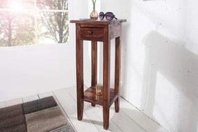 Drevený príručný stolík Hemingway coffee 25 x 25 cm »