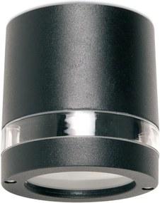 Vonkajšie stropné svietidlo REDO FOCUS čierny hliník 9812