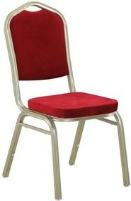 Stohovateľná stolička, bordová/champagne, ZINA 2 NEW