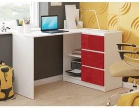 Počítačový stôl B16 lesklý pravý červený