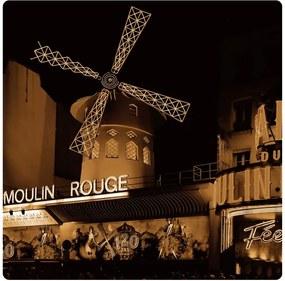 AG Design Obraz na stenu Moulin Rouge Akrylové plexisklo 29x29 cm