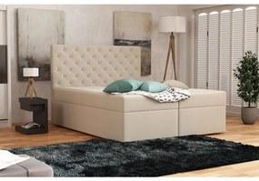 Elegantná čalúnená posteľ 120x200 ALLEFFRA - béžová 3