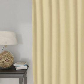Goldea dekoračný záves loneta - béžový 140x140 cm