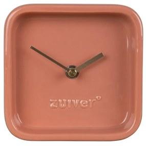 Ružové stolové hodiny Zuiver Cute