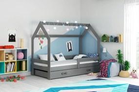 Domčeková posteľ DOMČEK 160x80cm - Grafitová - Grafitová