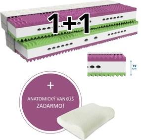 MPO Matrac 1+1 VERONIKA 2 ks 90 x 200 cm Poťah matraca: Zdravotné poťah - umývateľný