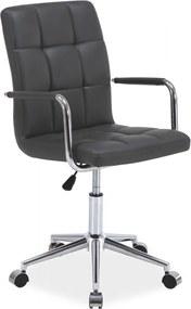 SIGNAL Q-022 kancelárska stolička sivá