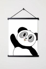 Plagát pre deti - Čiernobiela panda A3