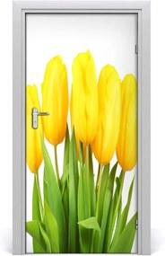 Fototapeta samolepiace  žlté tulipány