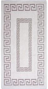 Sivo-béžový bavlnený koberec Vitaus Versace, 80 × 200 cm
