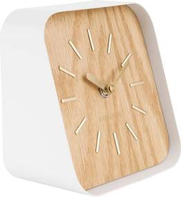 KARLSSON Stolné hodiny Squared svetlé drevo