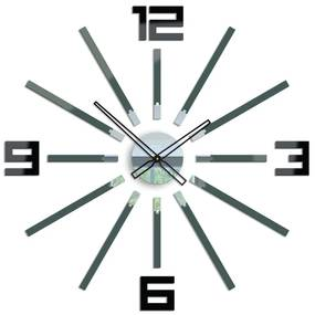 Mazur 3D nalepovacie hodiny Briliant sivé