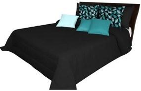 DomTextilu Čierna prešívaná prikrývka na posteľ Šírka: 200 cm   Dĺžka: 220 cm 12855-102671