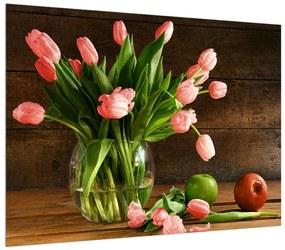 Obraz červených tulipánov vo váze (K012157K7050)
