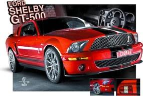 3D Plagát na stenu Red Mustang 0101