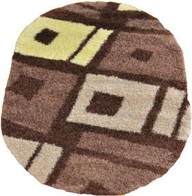 Kusový koberec Shaggy Loca Biagio hnedý ovál, Velikosti 160x220cm