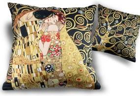 Vankúš s náplňou  45x45 cm Gustav Klimt The Kiss, CARMANI