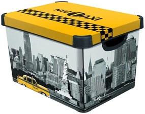 CURVER NEW YORK L box úložný dekoratívny 39,5 x 29,5 x 25 cm 04711-D16