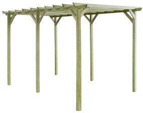 Záhradná pergola, 4x2x2 m, impregnované borovicové drevo