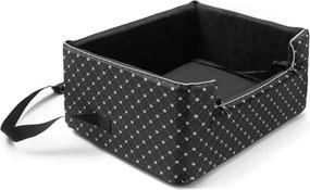 Čierna prepravná taška pre psa do auta Marendog Paws, 46 × 57 × 25 cm