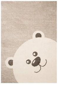 Detský hnedý koberec Zala Living Bear, 120 × 170 cm