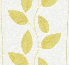 Vliesové tapety, listy žlté, Easy Wall 1338630, P+S International, rozmer 10,05 m x 0,53 m