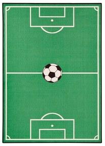 Detský zelený koberec Zala Living Football, 140 × 200 cm