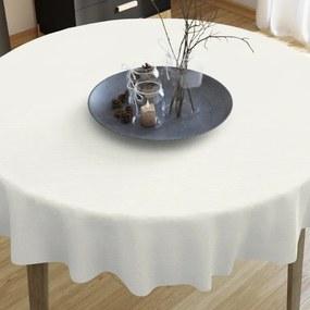 Goldea dekoračný obrus verona - smotanový - guľatý Ø 60 cm