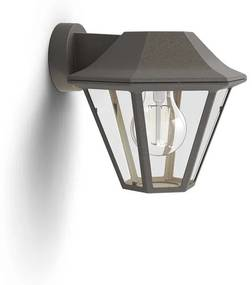 Philips 17386/43/PN CurassoW,exteriérové nástenné svietidlo, E27, 1x42W, bez zdroja, IP44, hnedá patina