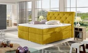 Dvojlôžková boxspring posteľ Bary 180x200 cm